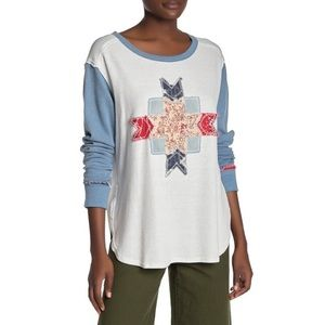 Free People Lone Star Patchwork Thermal
